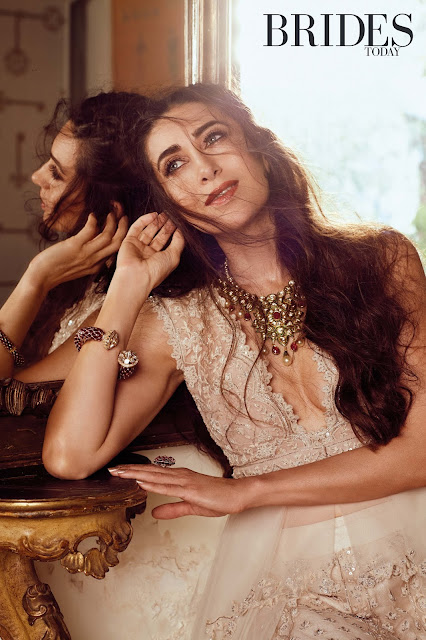 Karishma Kapoor wearing all looks by Ridhi Mehra for the cover story of Brides Today magazine