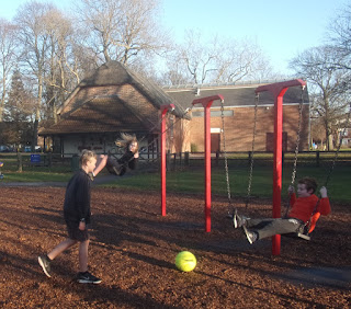 park games in winter sun