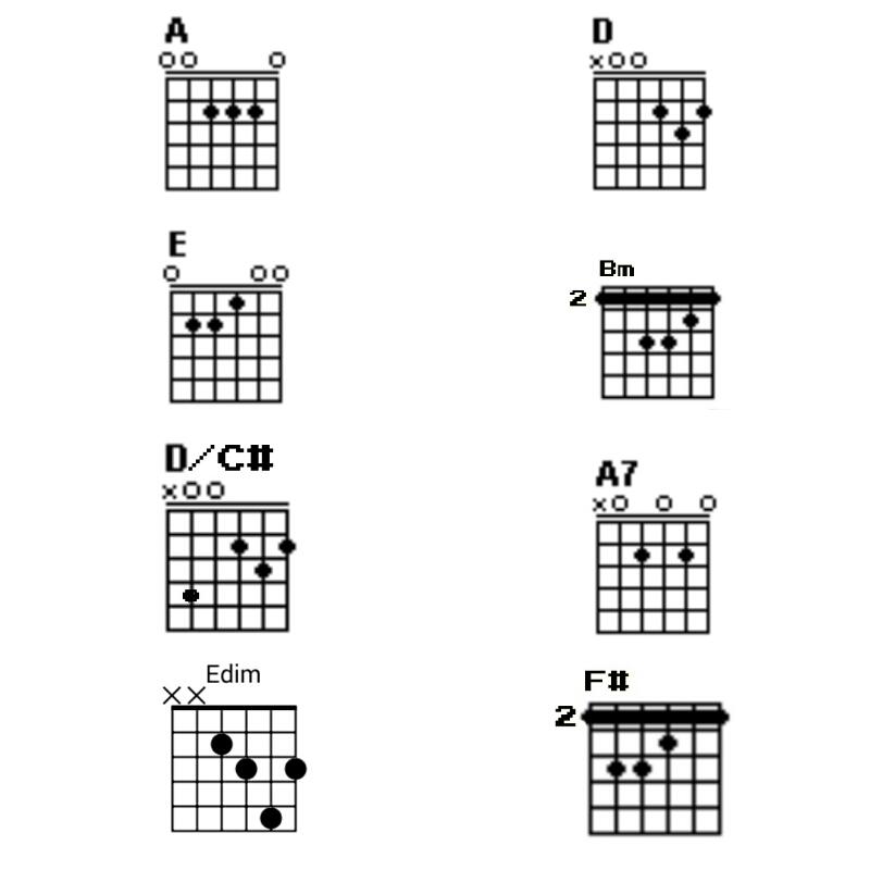 Cord Gitar Dasar: Iwan Fals [Kunci Dasar A]