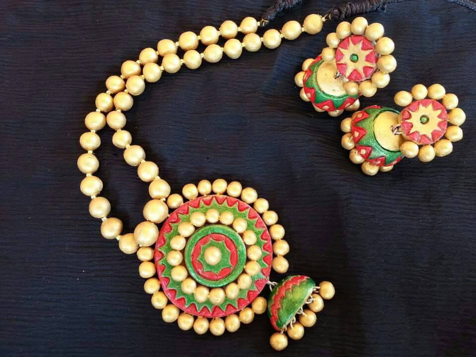 Terracotta Jewellery Making Classes in Chennai | Terracotta and silk ...