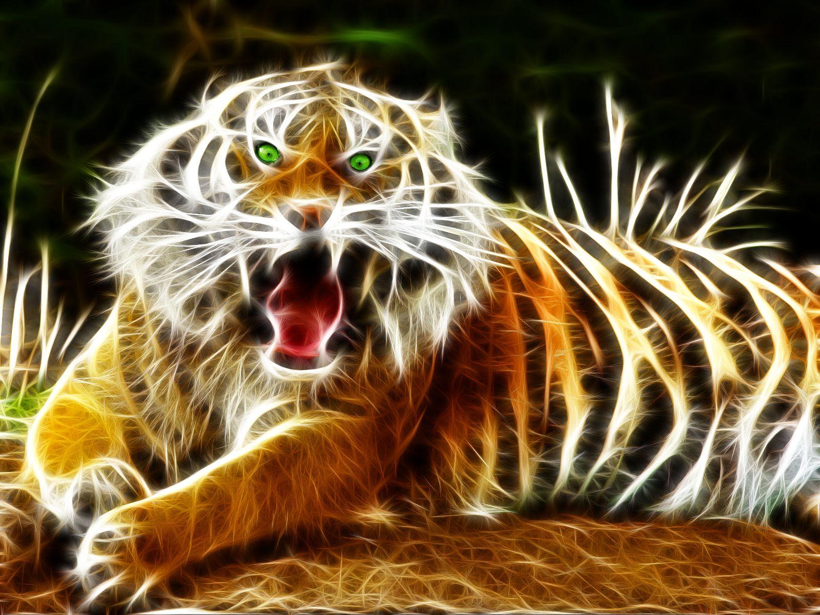 Tigre 3d 1920x1080 Fonds D Ecran Hd