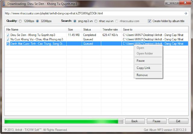 GetAlbumMP3 - Tải nguyên Albums: Zing 320kbps, Nhaccuatui, Nhacso, YouTube.