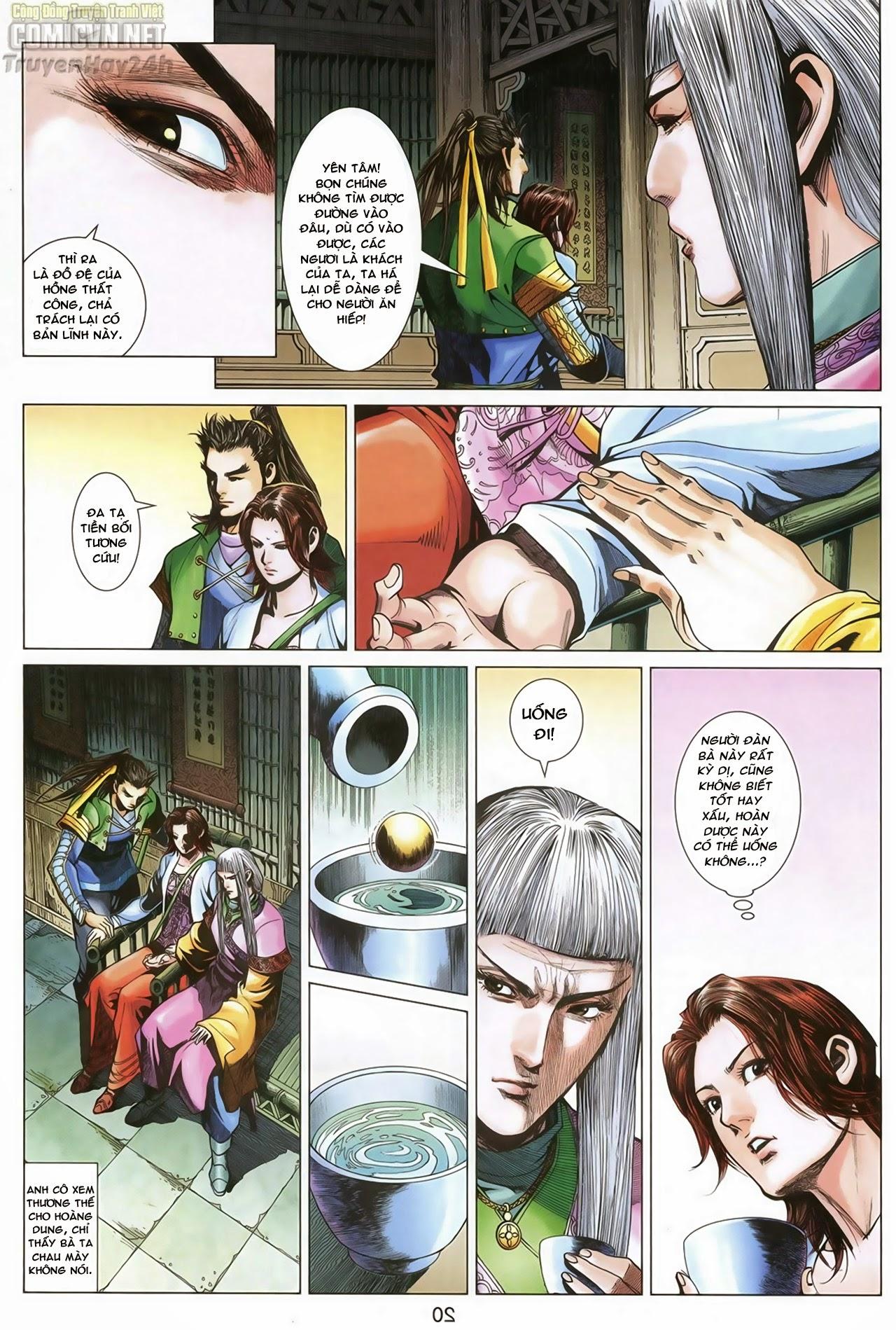 Anh Hùng Xạ Điêu anh hùng xạ đêu chap 70: hắc chiểu ẩn nữ trang 21