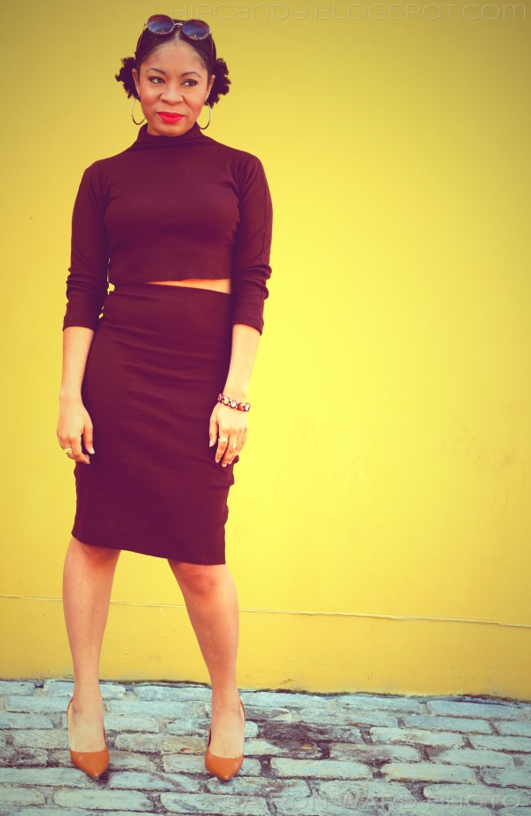 fashion sewing diy brown knit bodycon design