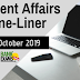 Current Affairs One-Liner: 19th October 2019