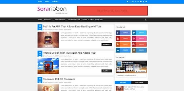sora ribbon blogger template 2018