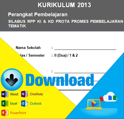 Download Perangkat Pembelajaran Kurikulum 2013 Silabus Rpp Prota Promes Kkm Untuk Kelas 2