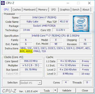 A CPU with AVX support