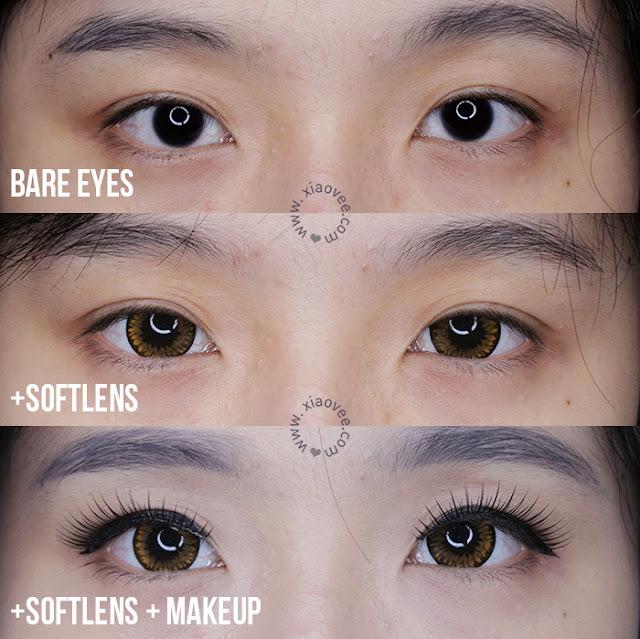 Japan Softlens Ageha Super Big Brown review, Japan Softlens Review, Softlens nyaman untuk mata sensitif, Softlens untuk mata merah