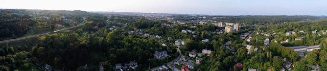 Markučių panorama virš sklypo