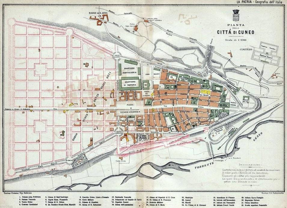 Cuneo e dintorni Cuneo nelle mappe e nei disegni