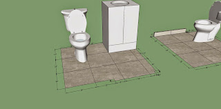 google sketchup, bathroom, tile, floor