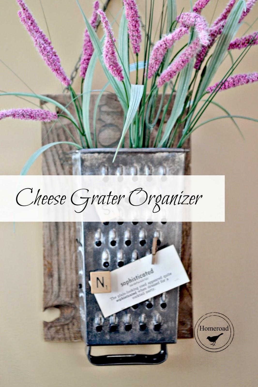 vintage cheese grater organizer www.homeroad.net