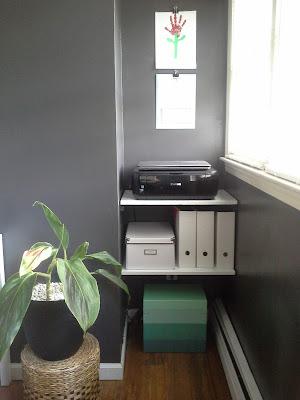 Home office floating shelves diy