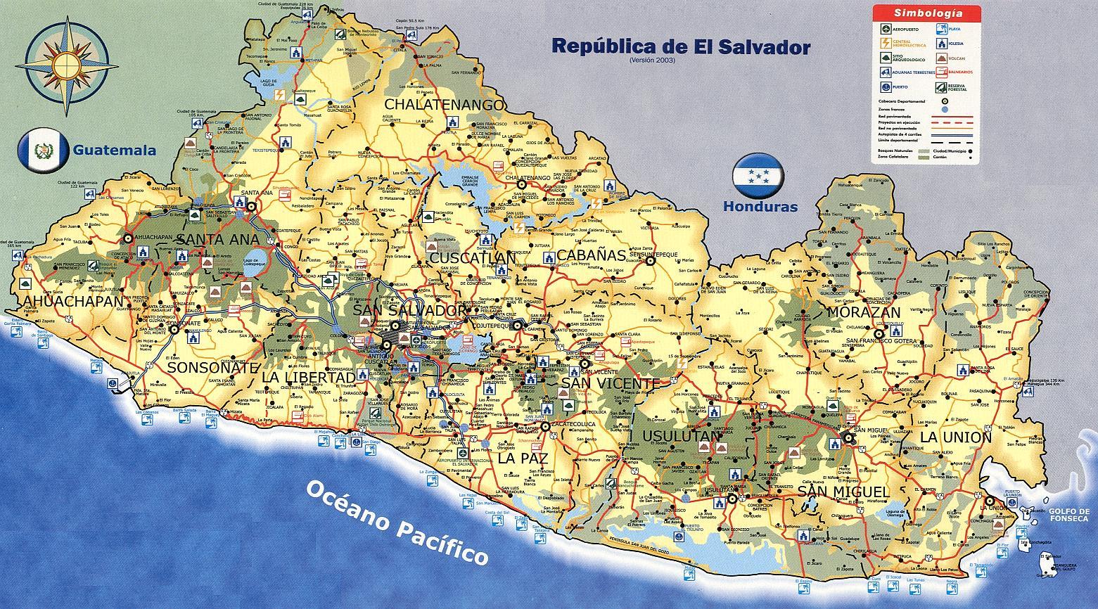 El Salvador | Mapas Geográficos de El Salvador