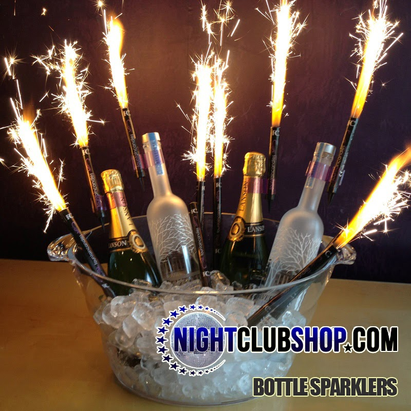 CHAMPAGNE BOTTLE SPARKLERS In BULK WHOLESALE