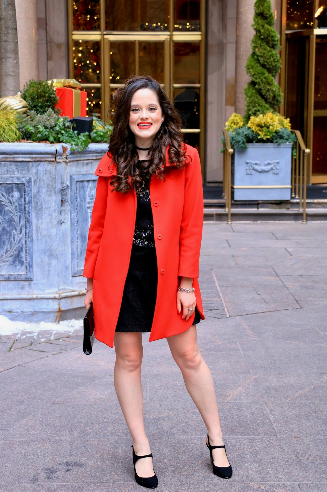 ann taylor red coat pics