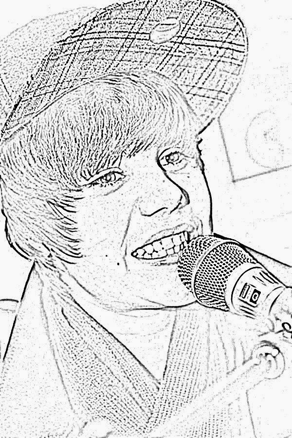 Activity Handsome Men Justin Bieber Coloring Pages New