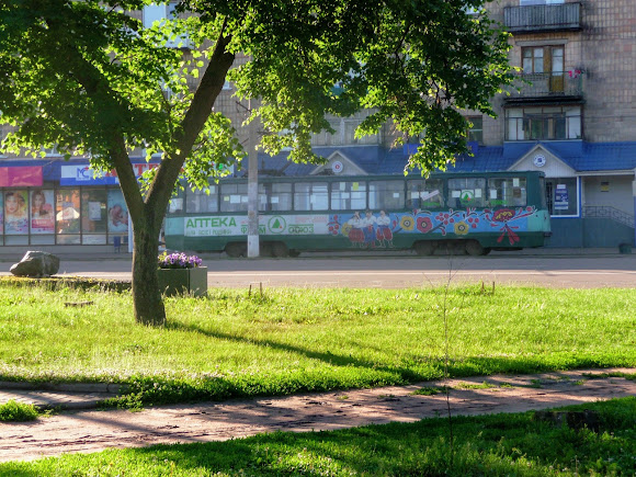 Конотоп. Трамвай на проспекті Миру