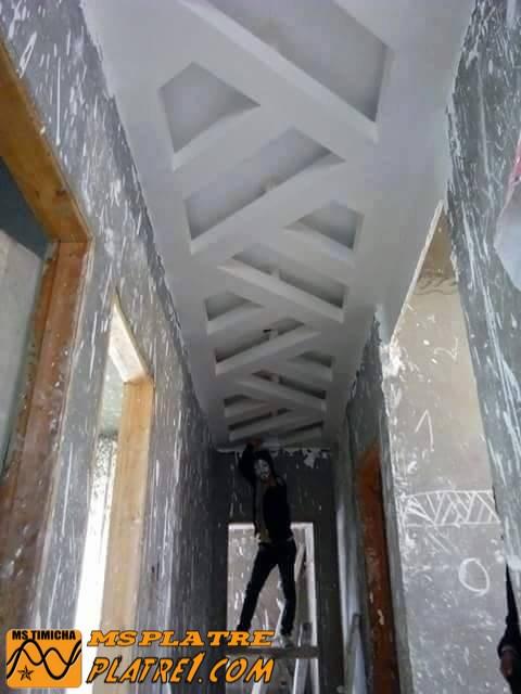 faux plafond de couloir