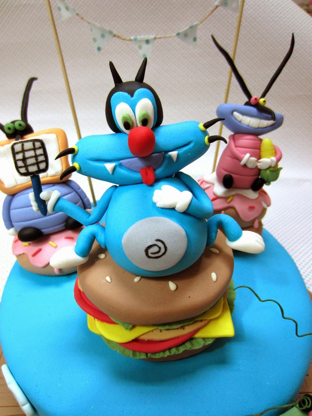Oggy And The Cockroaches Cake Cucu Cake
