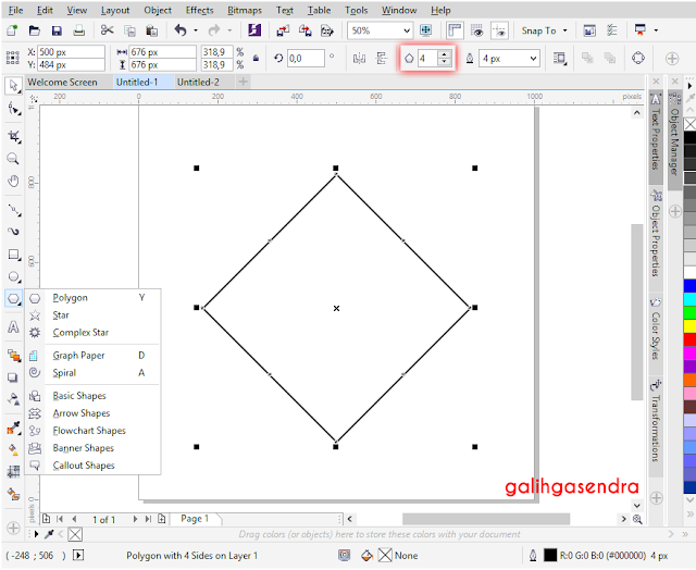 Corel Draw align to center odd triangle polygon center circle