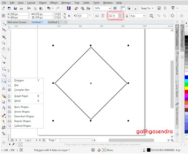 Corel Draw align to center odd triangle polygon center circle