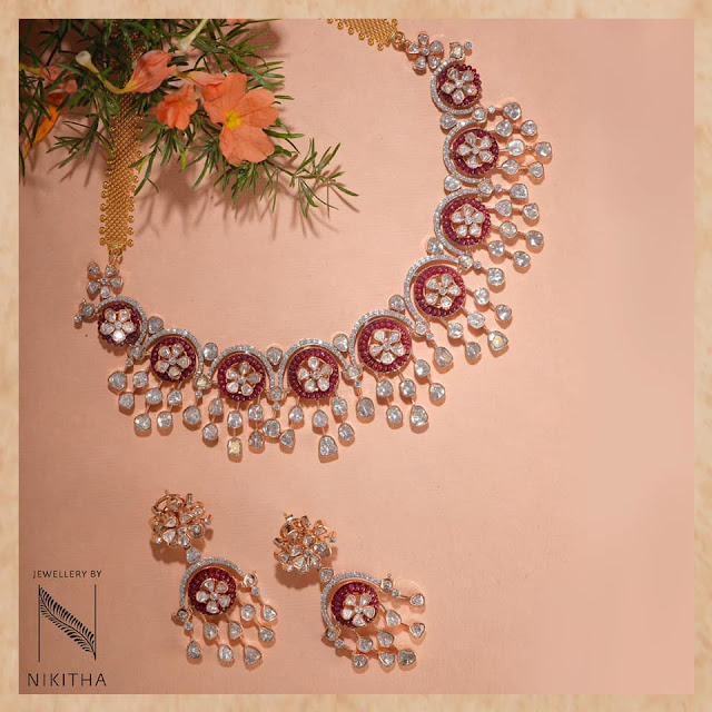 Polki Necklaces by Nikitha Linga