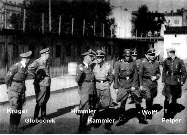 Himmler and cronies at Lipowa Camp, 20 July 1941 worldwartwo.filminspector.com