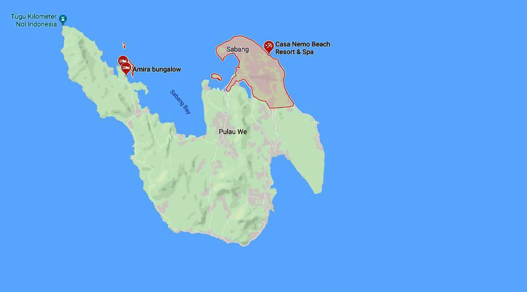 Wisata Indonesia lokasi wisata pulau sabang paling peta menarik