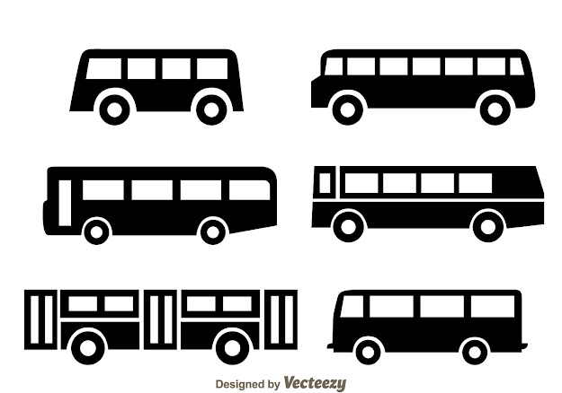 Vector Pack Bus Black Icons