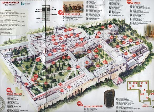 Topkapı Sarayı haritası ve bölümleri