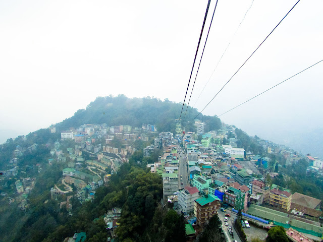 View of Gangtok from Ropeway