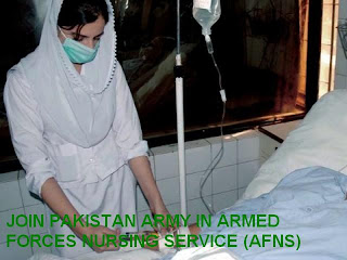 JOIN PAKISTAN ARMY IN ARMED FORCES NURSING SERVICE (AFNS) ENTRY 2012
