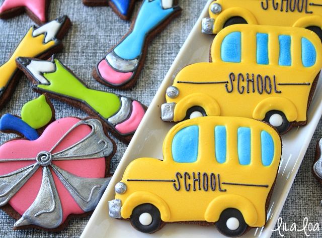 Back to School Bus Sugar Cookie Decorating Tutorial