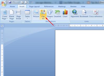 Cara Memasukkan Gambar Bawaan Office Ke Lembar kerja Microsoft Office Word 2007