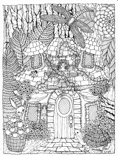 Detailed Coloring Pages For Adults  Irelandbrady  Musings To Ponder  Humming Belles