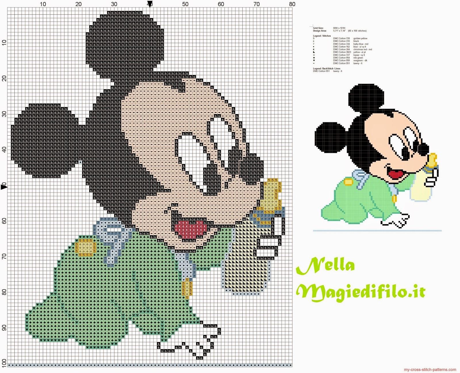 Schemi Disney A Punto Croce Schemi Baby Minnie E Topolino Punto Con