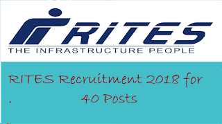 RITES Recruitment 2018 for 40 Posts