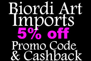 Biordi Art Imports Promo Codes February, March, April, May, June, July 2016