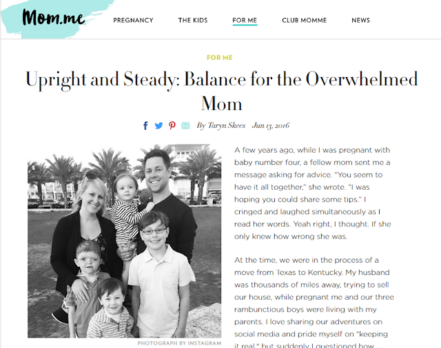 Upright and Steady: Finding Balance as an Overwhelmed Mom on mom.me