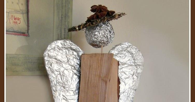 Ich Hab Da Mal Was Ausprobiert Holzscheit Engel