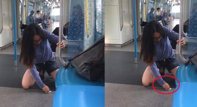 Wanita ini Dicari Pihak Kereta Api Setelah Fotonya Viral di Sosmed, Sebelumnya Dia Lakukan Hal ini