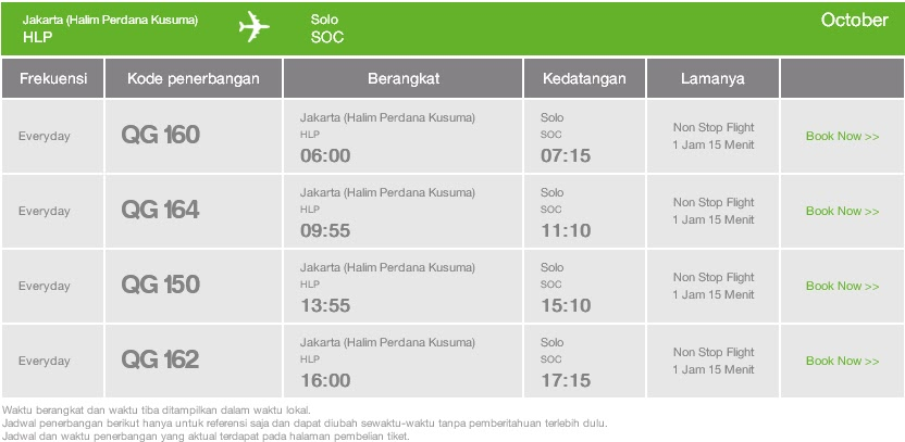 Fata Wisata Tiket Pesawat Jakarta Solo Tiket Pesawat Citilink Dari Jakarta Halim Ke Solo