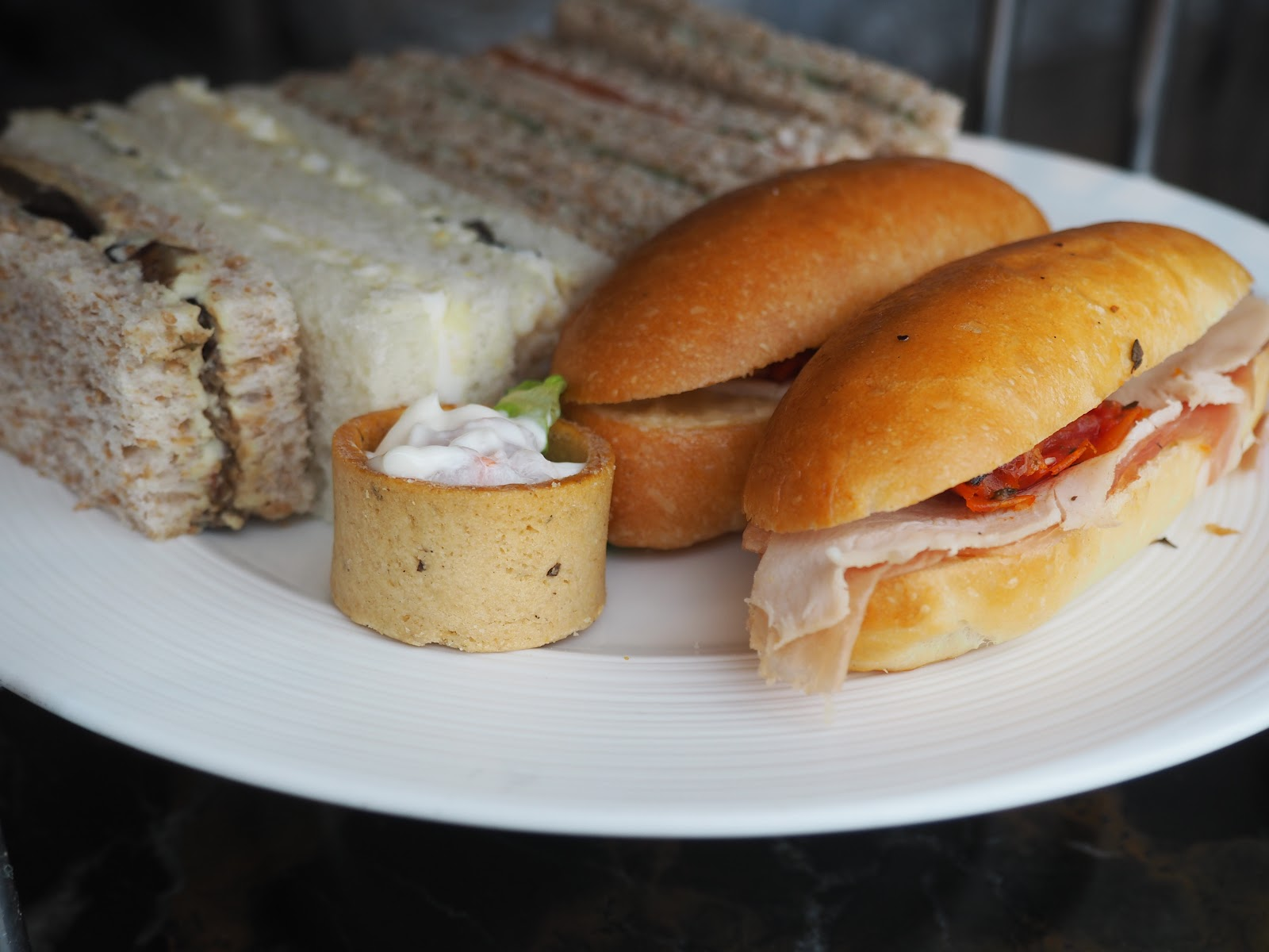 sandwiches from Afternoon Tea at GONG Bar at the Shangri La at The Shard
