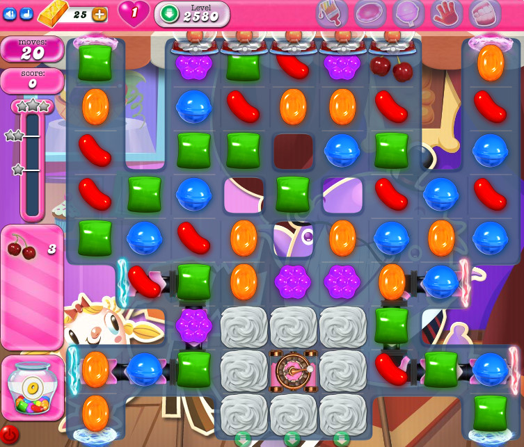 Candy Crush Saga level 2580