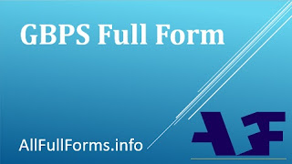 GBPS Full Form | GBPS Meaning