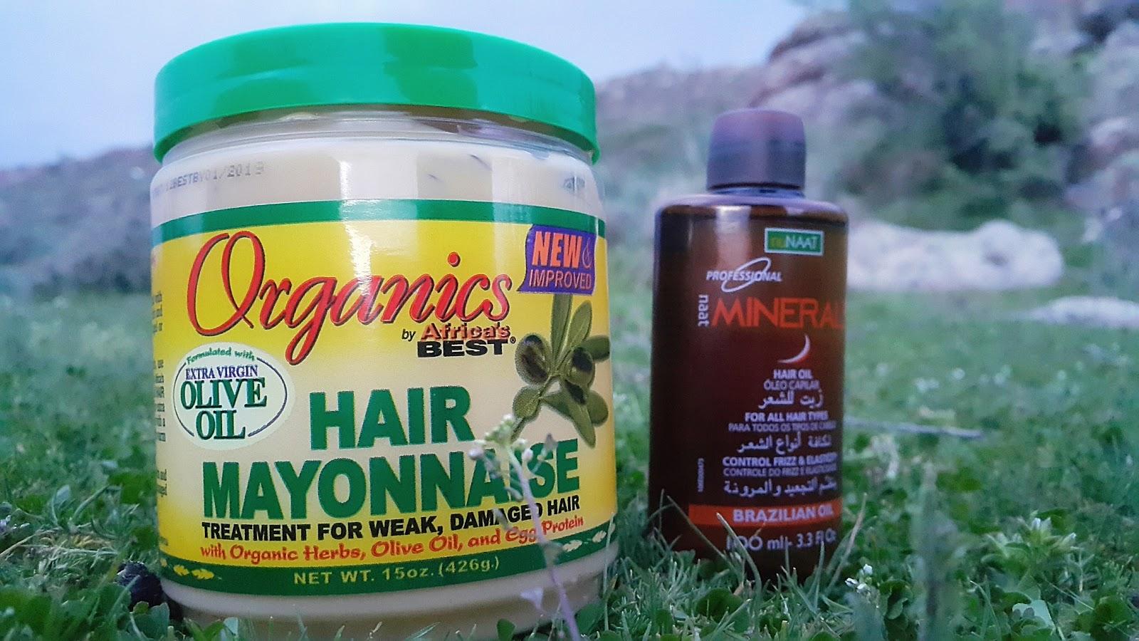 Saç maskesi (mayonez)