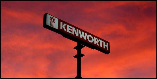 Kenworth Trucks dealership sign