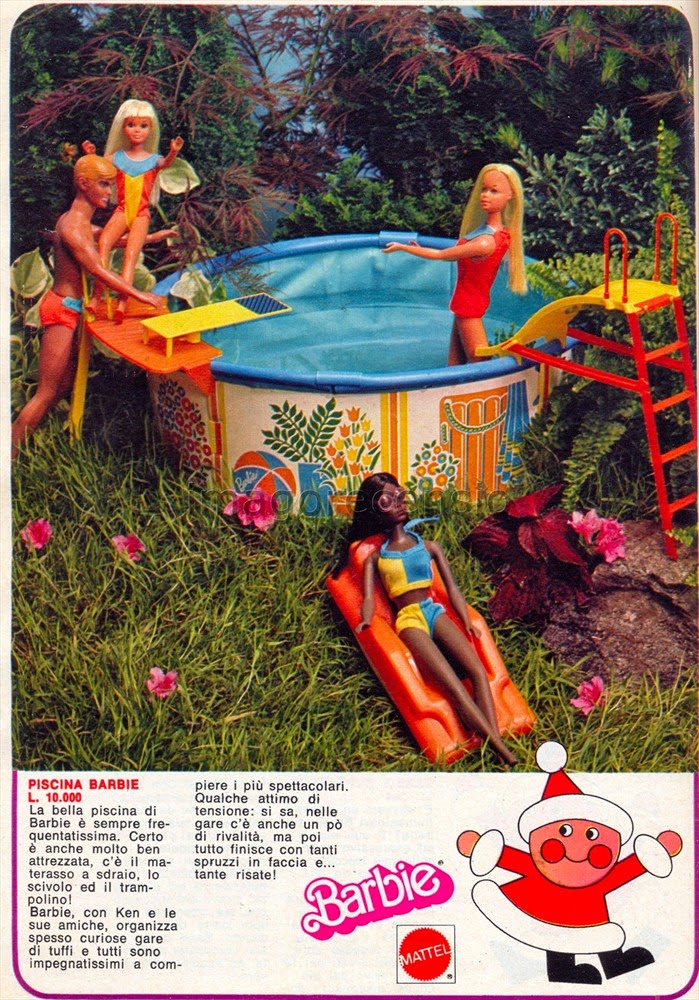 Imago recensio catalogo giocattoli mattel natale 1977 for Piscina di barbie
